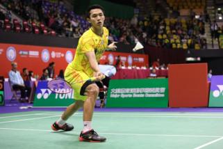 Taklukkan Ginting, Jonatan melaju ke perempat final Hongkong Terbuka