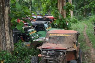 Lintasi jalur menantang, peserta Offroad Jeep kagumi destinasi wisata Batang