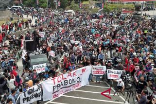 Massa protes pernyataan Prabowo yang dinilai lecehkan warga Boyolali