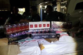 Bea Cukai sita 4,05 juta batang rokok tanpa pita cukai