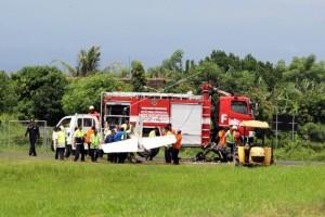 Pesawat latih gagal mendarat terbakar di Banyuwangi