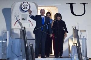 Presiden Jokowi sambut kedatangan Wapres AS
