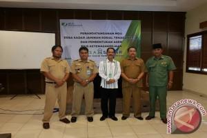BPJS Ketenagakerjaan teken MoU dengan empat desa di DIY