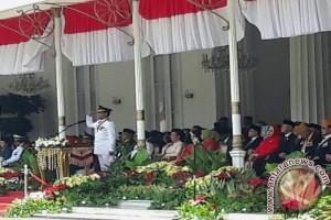 Sultan memimpin upacara HUT Kemerdekaan RI
