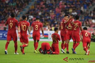 Babak pertama, Timnas Indonesia tertinggal 1-2 dari Thailand