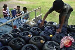 Tim gabungan intel TNI Berhasil Amankan 11 Ton BBM Ilegal