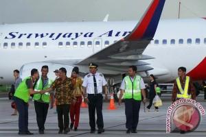 Penerbangan Perdana Sriwijaya Langsung Penuh Pemudik
