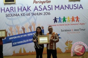 Pemkot Palangka Raya Terima Penghargaan Kota Peduli HAM