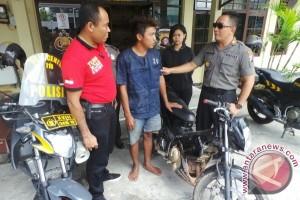 Pencuri Kendarai Sepeda Motor Curiannya, Eh Kena Tangkap