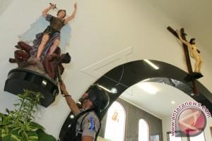 Percobaan Pembakaran 2 Rumah Ibadah, Polisi Palu Kembali Berjaga