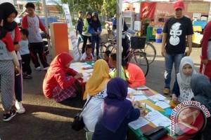 Aksi Peduli Orangutan di Car Free Day Kuala Kapuas