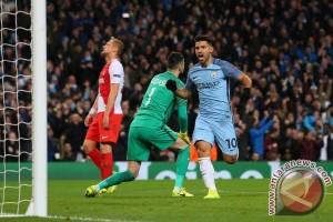 Sergio Aguero Picu Manchester City Bangkit Benamkan AS Monaco