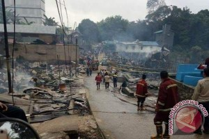 Lokalisasi PSK Muara Teweh Terbakar, Satu Meninggal