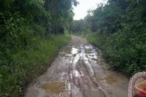 Jalan Rusak, Warga Paju Epat Bartim Tuding Penyebabnya Angkutan PT ISA