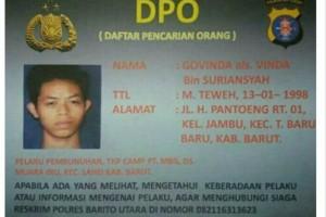 Syukur! Suami Pembunuh Istri Ditangkap Polisi Barito Utara