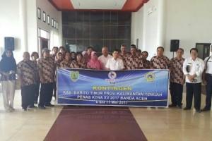 Kontingen Barito Timur Ikuti Penas KTNA Aceh Dilepas Bupati