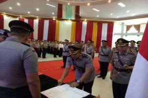Kapolda Kalteng Pimpin Serah Terima Jabatan 8 Perwira
