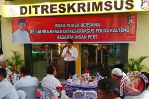 Ditreskrimsus Polda Kalteng Buka Puasa Bersama dengan Insan Pers