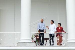 Barack Obama Dijamu di Istana Bogor