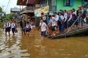3 Posko Banjir di Barito Utara Didirikan Untuk Warga Penderita Penyakit Gatal-Gatal
