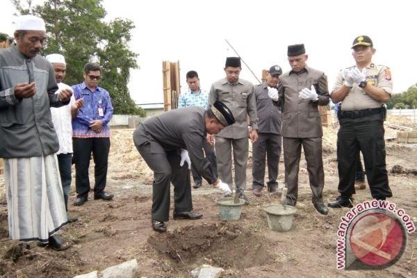 Pembangunan Masjid di Batu Banggui Lamandau Mulai Dikerjakan