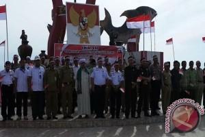 Tim Ekspedisi Bendera Merah Putih Disambut Antusias Masyarakat Kotim