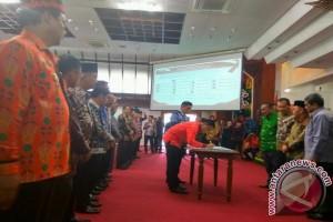 Sip! Kepala Daerah se-Kalteng Tandatangani Komitmen Cegah Korupsi