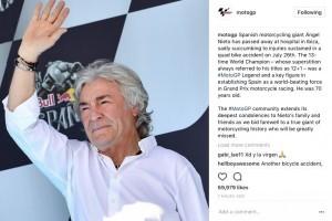 Mantan Pebalap MotoGP Angel Nieto Meninggal Akibat Kecelakaan