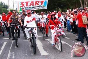 Gowes Pesona Nusantara Palangka Raya Berlangsung Meriah