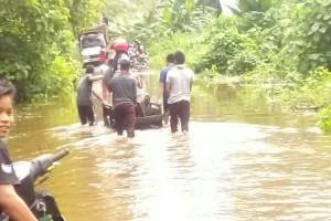 Ratusan Rumah Kecamatan Gunung Timang Terendam Banjir