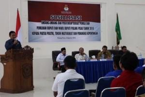 KPU Pulpis Sosialisasikan Aturan PKPU Tahun 2017