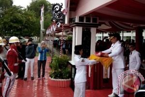 Upacara HUT Kemerdekaan RI di Barsel Diguyur Hujan