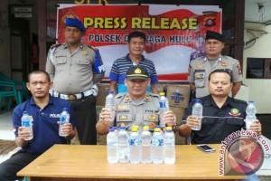 Polisi Bongkar Pembuatan Arak di Pelosok Kotim