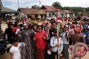 Keren! Warga Bukit Jaya Lamandau Gelar Karnaval HUT RI