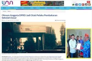 Yansen Binti Tak Terima Disebut Otak Pembakar 7 Sekolah di Palangka Raya