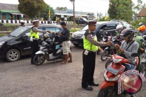 Polres Lamandau Razia Kendaraan Jelang Pesparawi