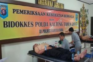 Anggota Polres Barito Utara Ikuti Pemeriksaan Kesehatan