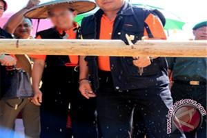 Acara Adat Potong Pantan Sambut Kontingen Pesparawi XVI se-Kalteng