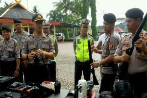 Polres Barito Utara Cek Sarana Pasukan PAM Pilkada