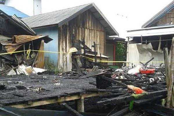 Kebakaran Hanguskan Rumah Penduduk di Jelapat Barito Selatan