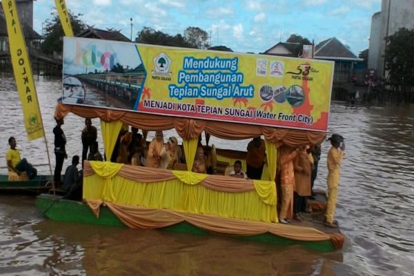 Golkar Dukung Pemkab Kobar Bangun Tepian Sungai Arut