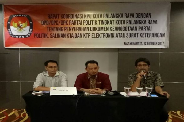 KPU Palangka Raya Buka Pendaftaran PPK-PPS