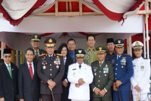 Bupati Barut Khusus Hadiri HUT TNI Kalteng