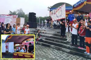 Warga Antusias, KPU Gumas Sosialisasi Pilkada Melalui Jalan Sehat