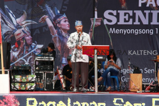 KPU Palangka Raya sosialisasikan Pemilu 2019 melalui seni-budaya