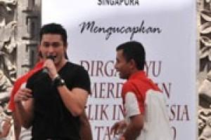 Hiburan Artis Kemerdekaan di KBRI Singapura Meriah