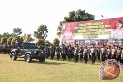 Brimob Kepri Bantu Pengamanan Pilkada Aceh
