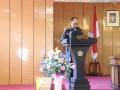 Sekretaris DPRD Karimun Zifridin membacakan keputusan tentang pengesahan Ranperda Pendidikan menjadi perda.