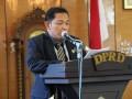 Juru bicara Pansus Ranperda Pendidikan DPRD Karimun Sulfanow menyampaikan laporan hasil pembahasan pansus selama beberapa bulan.