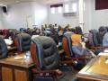 Sejumlah anggota DPRD Karimun menghadiri rapat paripurna pengesahan Ranperda tentang Pengelolaan Pendidikan.